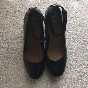 Clarks Artisan Ballerina Wedge Shoes